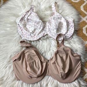 TWO Bali bras size 40DDD